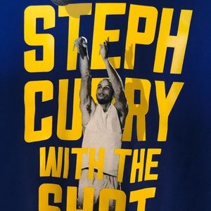 Curry youth Tee size large.